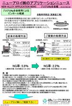 アプリケーションニュース (PMG-003 ピンホール軽減01)